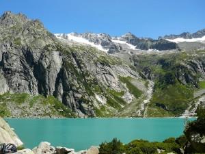 Lake Gelmer in Hasli valley.