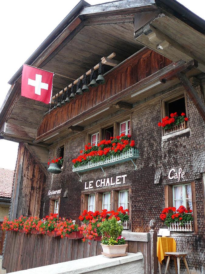 le chalet, gruyeres, szwajcarska restauracja