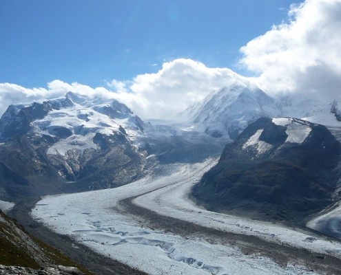 Gorner Glacier in Valais.