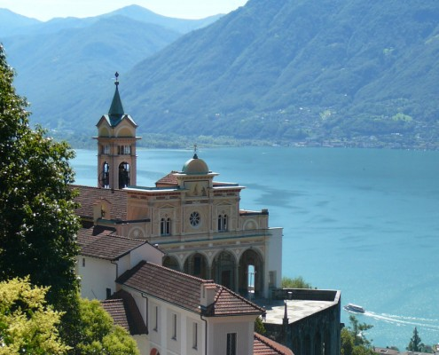 Madonna del Sasso Church in Locarno.