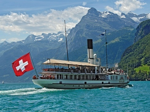 Steamer Schiller on Lake Lucerne.