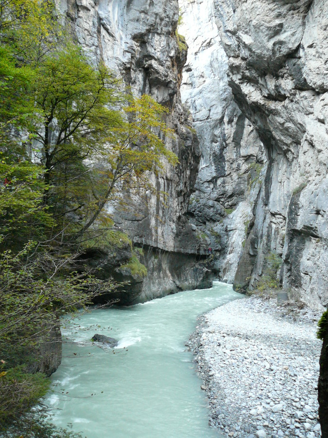 The Gorge of Aare river.