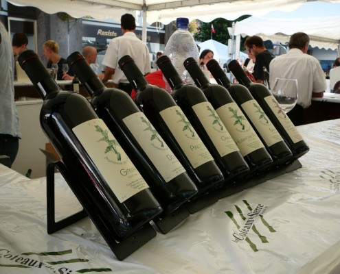 Swiss wines at Vinea Fair in Sierre.