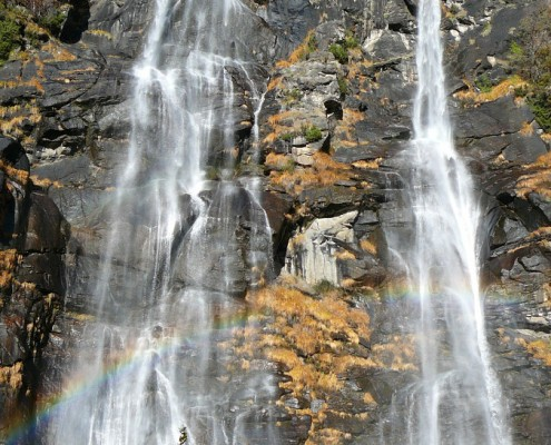 Aquafraggia Falls in Lombardy.