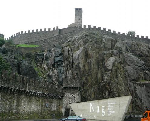 Zamek Castelgrande w Bellinzona.