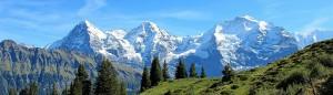 Widok na masyw górski Jungfrau.