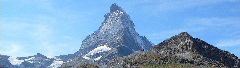 Blick von Zermatt auf das Matterhorn.