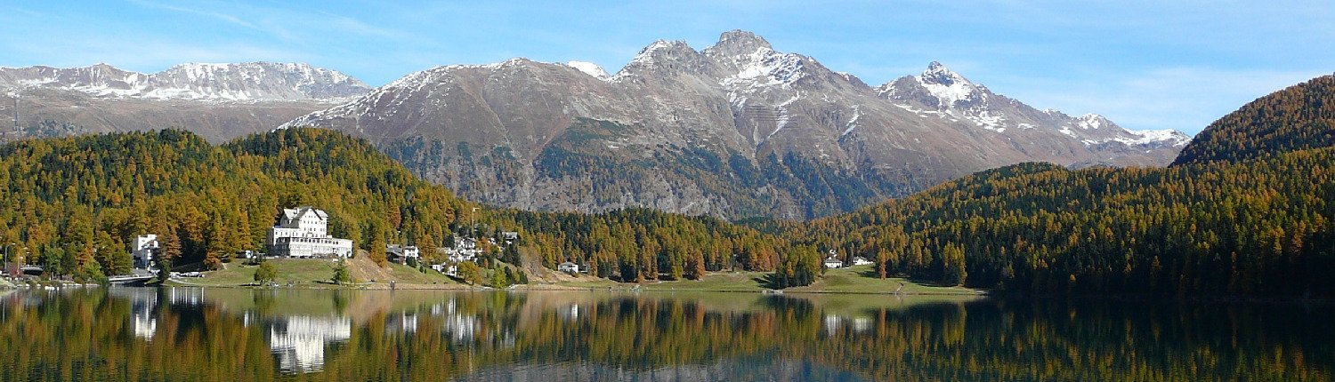 Lake in Sankt Moritz, Upper Engadin.