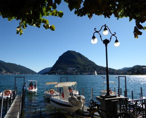 San Salvatore Berg und Luganersee, Lugano.