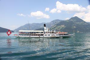 Statek parowy Schiller na Jeziorze Czterech Kantonów.