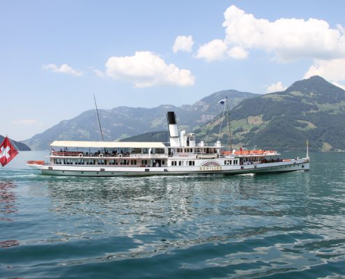 Paddle steamer Schiller on Lake Lucerne.