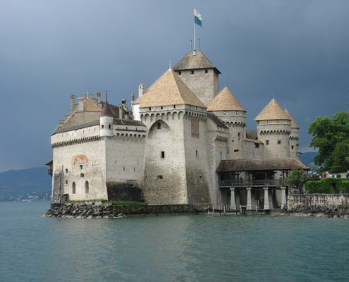 Chillon Castle on Lake Geneva.
